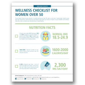 Women Over 50 Health Checklist Infographic
